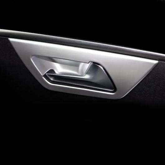 AL ABS インナー ドア ハンドル フレーム 適用: プジョー 3008 5008 2019 2020 インテリア モールディング アクセサリー ABS シルバー 4 ピース AL-FF-4369