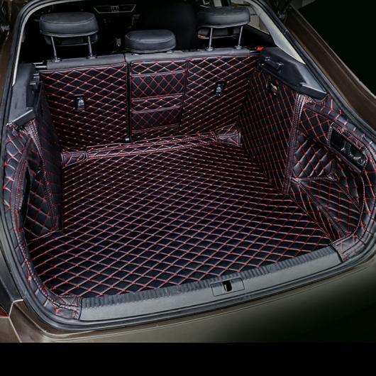 AL レザー カーゴ ライナー トランク マット 適用: シュコダ スペルブ 2016 2017 2018 2019 2020 ラグ カーペット ブラック レッド ワイヤー AL-FF-4540
