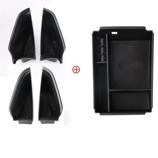 AL ABS 車内 ドア アームレスト ストレージ プレート 適用: メルセデス ベンツ GLE GLE350 GLE450 2020 5 ピース FLOCKING AL-FF-4567