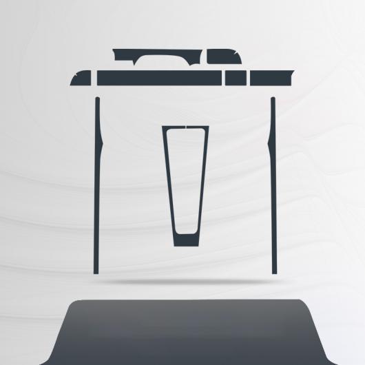 AL TPU インテリア 保護 フィルム セントラル コントロール ステッカー 適用: ポルシェ 911 2013 2014 2015 2016 2017 2018 2019 2013-2018 1 AL-FF-4603