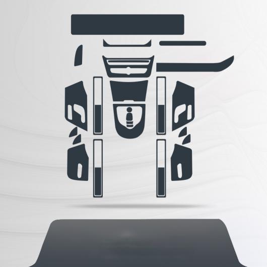 AL トランスペアレント TPU インテリア 保護 フィルム セントラル コントロール ステッカー 適用: メルセデス ベンツ G フル セット 29 ピース AL-FF-4605