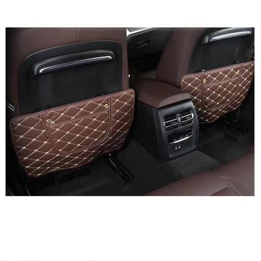 AL レザー カーシート バック インナー ピラー アンチキック マット 適用: BMW 3シリーズ モカ ブラウン 2 ピース 1~クラシック ブラック 2ピース 2 AL-FF-4477
