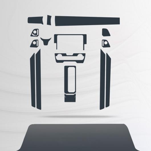 AL TPU トランスペアレント インテリア 傷つき防止 ギア 保護 フィルム 適用: ホンダ シビック 10世代 2015 2016 2017 2018 2019 2020 16 ピース AL-FF-4696