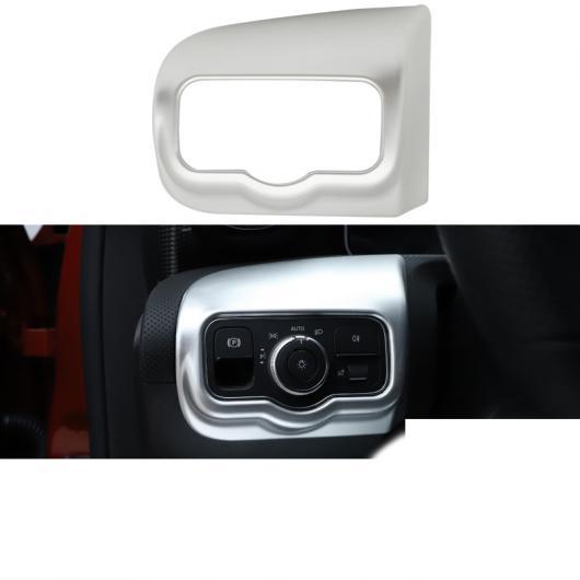 AL 適用: メルセデス ベンツ A クラス A180 A200 ヘッドライト スイッチ フレーム インテリア モールディング アクセサリー 2019 マット シルバー AL-FF-4934