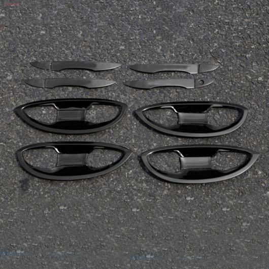 AL 適用: トヨタ カローラ E210 ドア ハンドル ドア フレーム トリム 装飾 インテリア アクセサリー 2014 2015 2016 2017 2018 チタン ブラック 2 AL-FF-5035