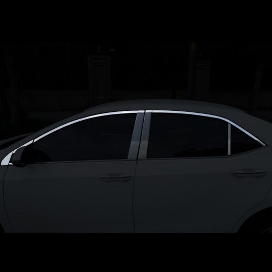 AL 適用: トヨタ カローラ E210 ウインドウ ポスト トリム クローム 装飾 インテリア アクセサリー 2014 2015 2016 2017 2018 16 ピース 2 AL-FF-5066