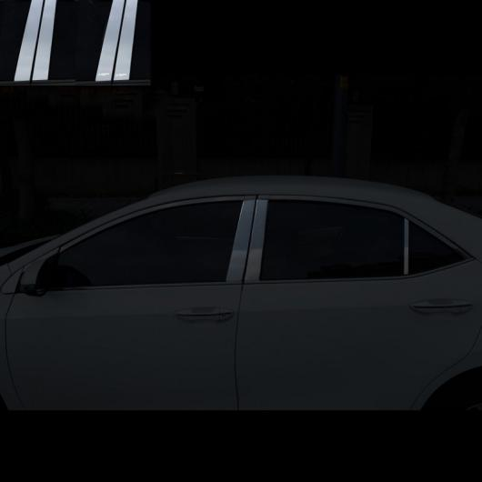 AL 適用: トヨタ カローラ E210 ウインドウ ポスト トリム クローム 装飾 インテリア アクセサリー 2014 2015 2016 2017 2018 6 ピース 2 ブラック AL-FF-5066