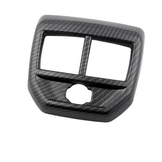 AL ABS リア アームレスト 吹き出し口 フレーム トリム 適用: プジョー 5008 2019 2020 インテリア モールディング アクセサリー カーボンファイバー AL-FF-5108