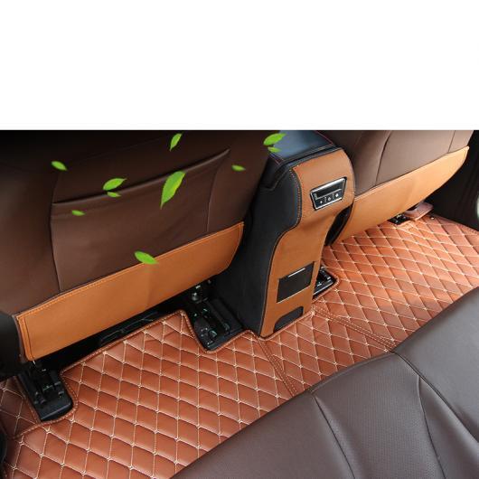 AL 適用: リーファン Xuanlang カーシート バック マット アンチキック プロテクター 装飾 インテリア アクセサリー ブラック・ブラウン 2 ピース AL-FF-5046