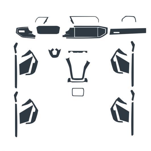 AL TPU インテリア フィルム セントラル ギア パネル コントロール ダッシュボード スクリーン 保護 ステッカー 適用: アウディ Q3 2019 タイプ001 AL-FF-5122