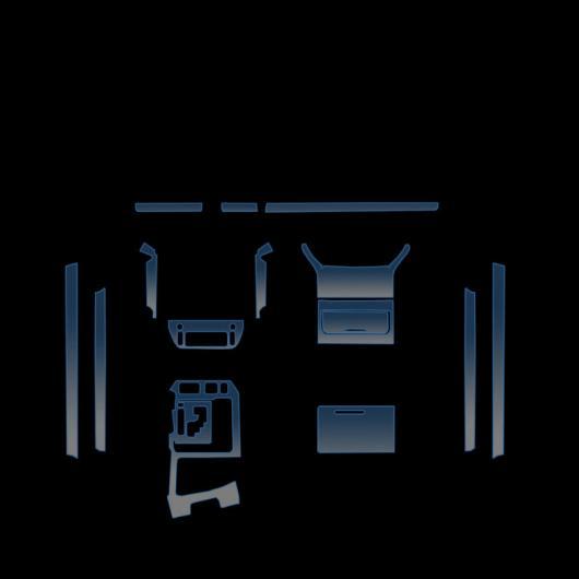 AL TPU インテリア ダッシュボード ドア 傷つき防止 フィルム ギア 保護 ステッカー 適用: トヨタ ランドクルーザー LC200 2016-2020 タイプ 2 AL-FF-5162