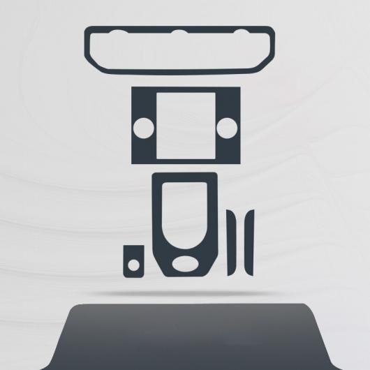 AL TPU セントラル コントロール ギア ダッシュボード フィルム 保護 ステッカー 適用: ランド ローバー ディスカバリー 4 2014 2015 2016 タイプ 1 AL-FF-5194