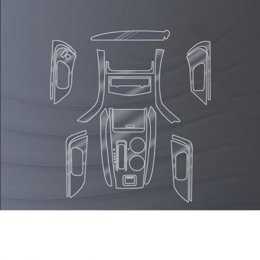 AL TPU ギア ダッシュボード フィルム ステッカー 適用: 日産 ティアナ アルティマ 2016 2017 2018 傷つき防止 ドア 保護 タイプ 2 2016-2018 AL-FF-5205