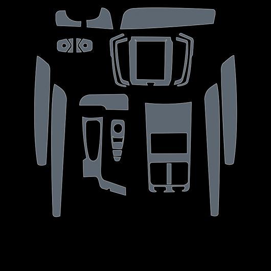 AL TPU トランスペアレント インテリア フィルム セントラル コントロール ダッシュボード ステッカー 適用: ボルボ S90 2017 2018 2019 タイプ 3 AL-FF-5215