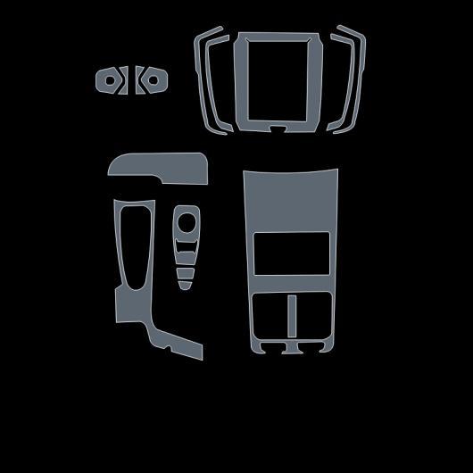 AL TPU トランスペアレント インテリア フィルム セントラル コントロール ダッシュボード ステッカー 適用: ボルボ S90 2017 2018 2019 タイプ 2 AL-FF-5215