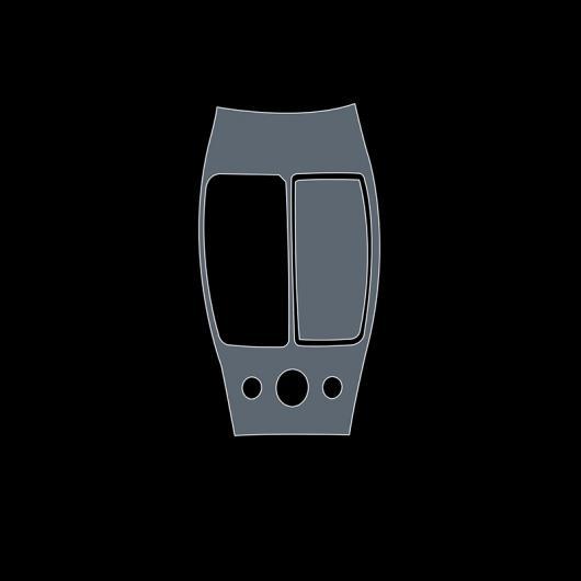 AL TPU トランスペアレント センター コントロール ギア フィルム 保護 ステッカー 適用: インフィニティ QX60 2020 2019 2018 傷つき防止 タイプ 2 AL-FF-5224