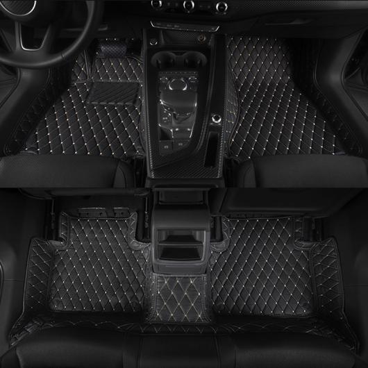 AL レザー フロアマット 適用: アウディ A5 2007-2020 2019 2018 2017 ブラック レッド ワイヤー~ワイン レッド 2007-2016 2ドア~2016-2021 4ドア AL-FF-5230