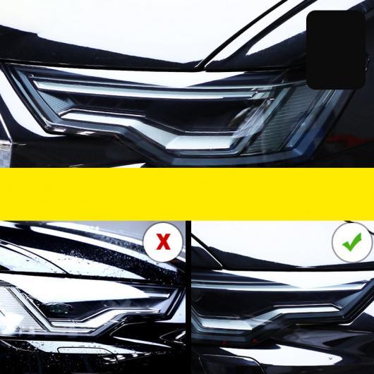 AL TPU トランスペアレント ブラック ヘッドライト フィルム 保護 ステッカー 適用: アウディ A7 S7 2015 2016 2017 A7 2015-2018~S7 2019-2020 AL-FF-5256