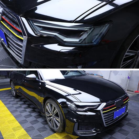 AL TPU トランスペアレント ブラック ヘッドライト フィルム 保護 ステッカー 適用: アウディ A8 S8 2020 2019 A8 S8 2015-2017・A8 S8 2018-2020 AL-FF-5259