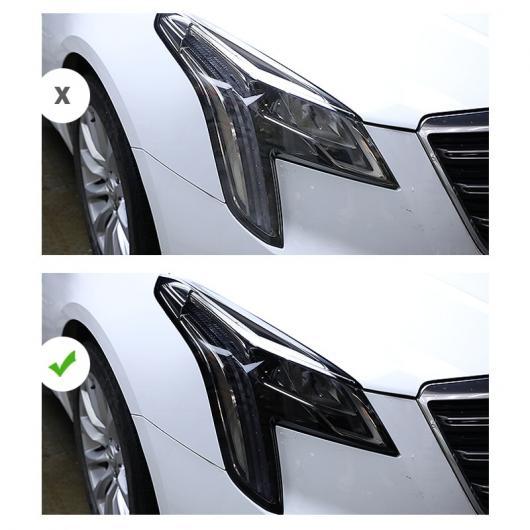 AL TPU トランスペアレント トランスペアレント ブラック ヘッドライト フィルム 傷つき防止 ステッカー 適用: XTS 2013-2019~CT5 2019-2020 AL-FF-5273