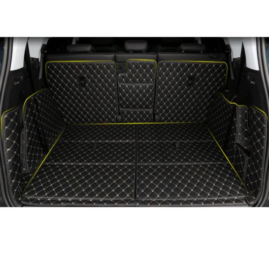 AL レザー トランク マット カーゴ ライナー 適用: プジョー 5008 2019 2020 ラグ ブラック ゴールド ワイヤー 4・ブラック レッド ワイヤー 4ピース AL-FF-5278