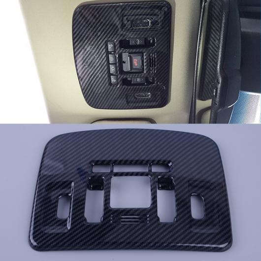 AL カーボンファイバー テクスチャ ABS インテリア コンソール ミドル セントラル 吹き出し口 エア カバー トリム 21.2×17.3cm 適用: トヨタ カムリ 2018 AL-FF-6098