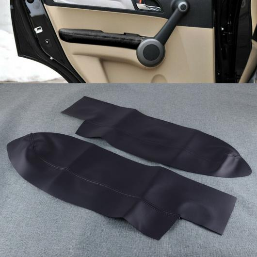 AL 1ペア ブラック PU レザー フロント ドア パネル フレーム アームレスト スキン カバー トリム 適用: ホンダ CR-V 2007 2008 2009 2010 2011 AL-FF-6778