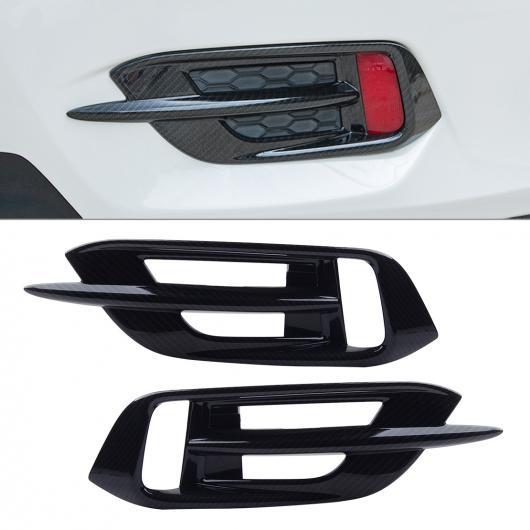 AL ABS カーボンファイバー ブラック リア バンパー フォグライト ランプ カバー トリム 適用: ホンダ シビック セダン 2016 2017 2018 2019 AL-FF-6843