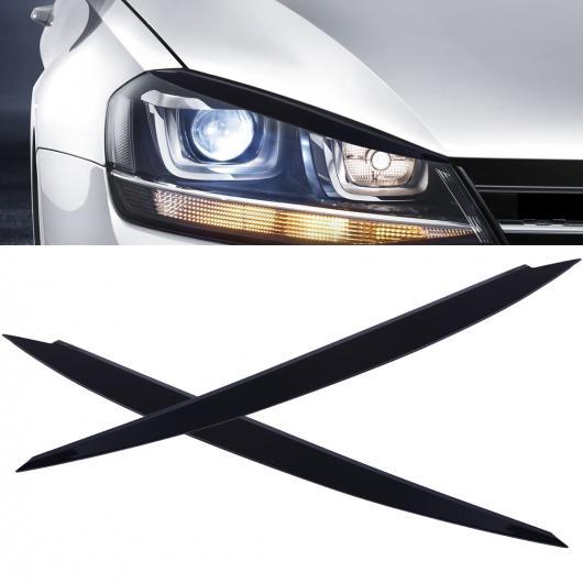 AL 2ピース クローム メッキ ヘッド ライト ブロー カバー ランプ アイリッド トリム 適用: VW ゴルフ MK7 GTI 2013 2014 2015 2016 2017 2018 AL-FF-6920