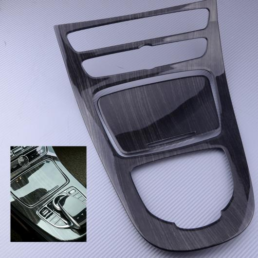 AL 2ピース 木材 粒 コンソール ギア パネル カバー フレーム トリム ABS プラスチック 適用: メルセデス ベンツ Eクラス W213 2016 2017 AL-FF-6955