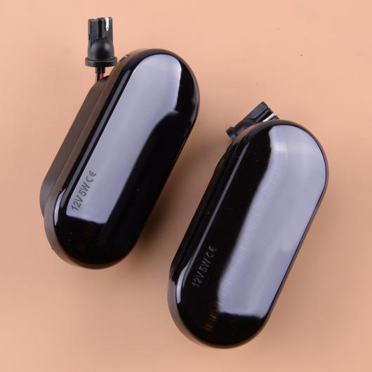 AL 12V 5W 3.2cm ABS ブラック ダイナミック フロー LED サイド マーカー シグナル ライト インジケータ リピータ イエロー 適用: VW T5 フォルクスワーゲン AL-FF-7176