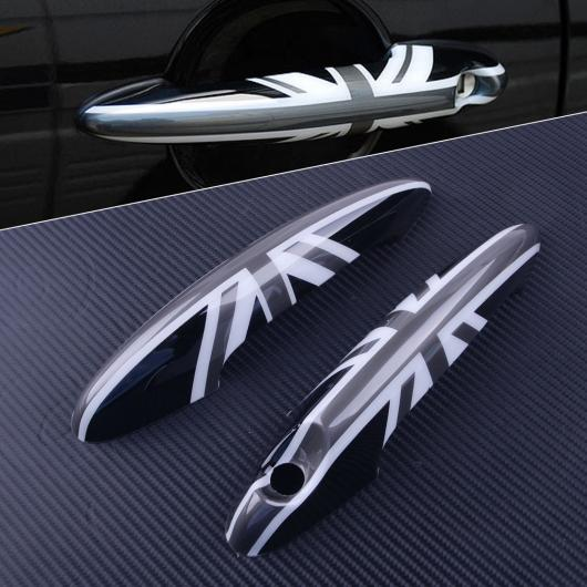 AL 2ピース 22×5cm プラスチック デザイン エクステリア ドア ハンドル カバー トリム 適用: ミニ クーパー R50 R52 R53 R55 R56 R57 R58 R59 R60 AL-FF-7185