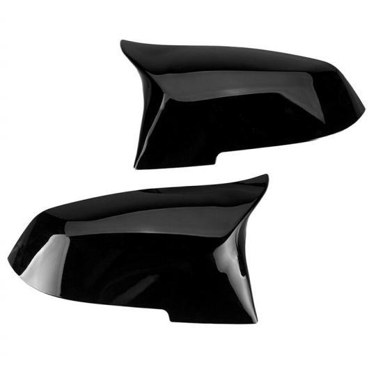 AL 2ピース 左&右 ブラック バックミラー ミラー カバー ヘッド プラスチック 適用: BMW 1 2 3 4シリーズ X1 M2 F20 F21 F22 F23 F30 F31 2014 2015 AL-FF-7435