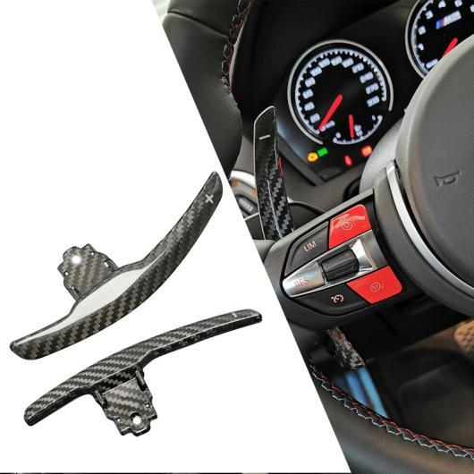 AL 1ペア ブラック カーボンファイバー ステアリング ホイール シフト パドル エクステンション シフター ブレイド 適用: BMW F80 M3 F82 F83 M4 F10 M5 F15 X5 M AL-FF-7503