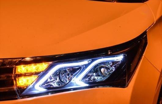 AL ヘッドライト 適用: トヨタ カローラ 2014-2016 LED ヘッドランプ デイタイムランニングライト DRL バイキセノン HID 4300K~8000K 35W 55W AL-HH-0009 売れ行きがよい 出産祝 法要 喜寿祝 防災