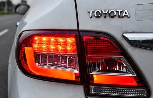 AL テール ランプ 適用: トヨタ カローラ ライト 2011-2013 LED リア DRL + ブレーキ パーク シグナル ストップ レッド AL-HH-0012