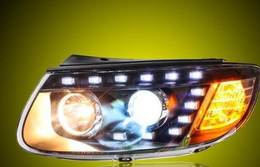 AL ヘッドライト 適用: ヒュンダイ/現代/HYUNDAI サンタフェ 2006-2012 LED ヘッドランプ デイタイムランニングライト DRL バイキセノン HID 4300K~8000K 35W・55W AL-HH-0030