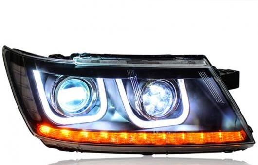 AL ヘッドライト 適用: ダッジ/DODGE ジャーニー 2009-2015 LED ヘッドランプ デイタイムランニングライト DRL バイキセノン HID 4300K~8000K 35W・55W AL-HH-0035