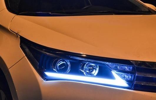 AL ヘッドライト 適用: トヨタ カローラ 2014-16 LED ヘッドランプ デイタイムランニングライト DRL バイキセノン HID 4300K~8000K 35W・55W AL-HH-0051