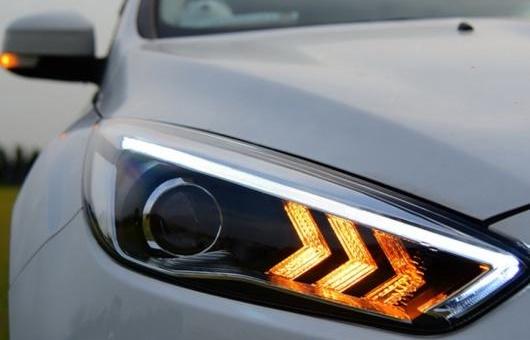 AL ヘッドライト 適用: フォード/FORD フォーカス 2015 LED ヘッドランプ デイタイムランニングライト DRL バイキセノン HID 4300K~8000K 35W・55W AL-HH-0069