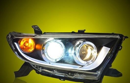 AL 適用: トヨタ ハイランダー ヘッドライト 2012-13 ヘッドランプ エンジェル アイ LED DRL フロント ライト バイキセノン レンズ キセノン 4300K~8000K 35W・55W AL-HH-0072