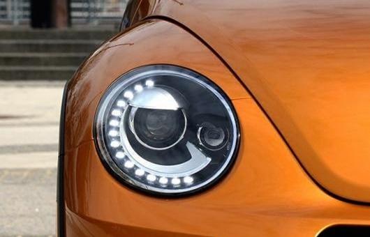 AL ヘッドライト 適用: VW フォルクスワーゲン/VOLKSWAGEN ビートル 2013-2015 LED ヘッドランプ デイタイムランニングライト DRL バイキセノン HID 4300K~8000K 35W・55W AL-HH-0078