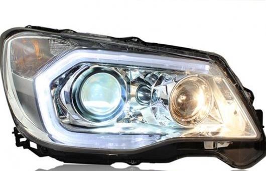 AL ヘッドライト 適用: スバル フォレスター 2013-16 LED ヘッドランプ デイタイムランニングライト DRL バイキセノン HID 4300K~8000K 35W・55W AL-HH-0085