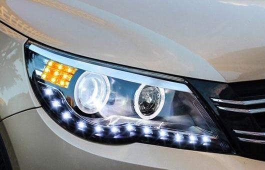 AL ヘッドライト 適用: トヨタ VW ティグアン 2010-2012 LED ヘッドランプ デイタイムランニングライト DRL バイキセノン HID 4300K~8000K 35W・55W AL-HH-0118