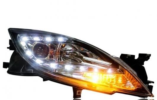 AL ヘッドライト 適用: マツダ MAZDA6 2009-2014 LED ヘッドランプ デイタイムランニングライト DRL バイキセノン HID 4300K~8000K 35W・55W AL-HH-0119
