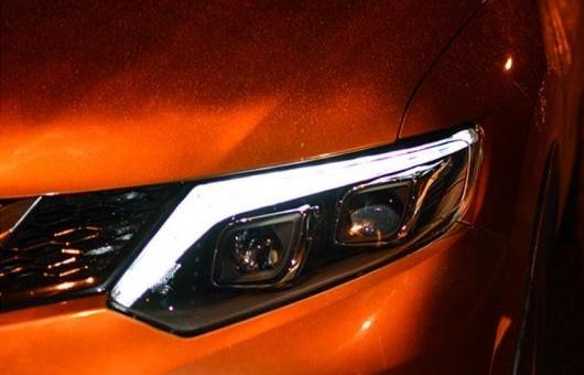 AL ヘッドライト 適用: 日産 エクストレイル 2014-16 LED ヘッドランプ デイタイムランニングライト DRL バイキセノン HID 4300K~8000K 35W・55W AL-HH-0129