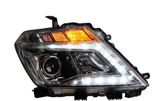 AL ヘッドライト 適用: 日産 パトロール 14-16 LED ヘッドランプ デイタイムランニングライト DRL バイキセノン HID 4300K~8000K 35W・55W AL-HH-0138