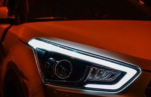 AL ヘッドライト 適用: ヒュンダイ/現代/HYUNDAI IX25 2015 LED ヘッドランプ デイタイムランニングライト DRL バイキセノン HID 4300K~8000K 35W・55W AL-HH-0144