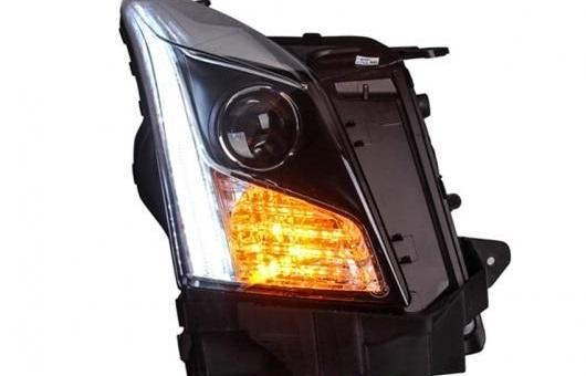 AL 適用: キャデラック/CADILLAC ATS ヘッドライト 2014-16 LED ヘッドランプ デイタイムランニングライト DRL バイキセノン HID 4300K~8000K 35W・55W AL-HH-0152