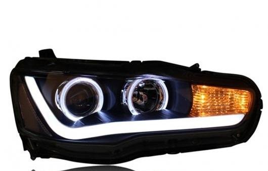 AL ヘッドライト 適用: 三菱 ランサー EX 09-15 LED ヘッドランプ デイタイムランニングライト DRL バイキセノン HID 4300K~8000K 35W・55W AL-HH-0155
